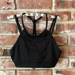 Jockey black Strappy sports bra Sz small